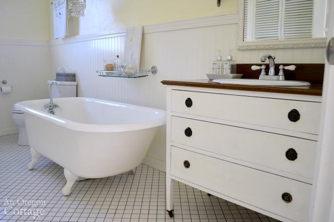 Dresser Vanity With Clawfoot Tub