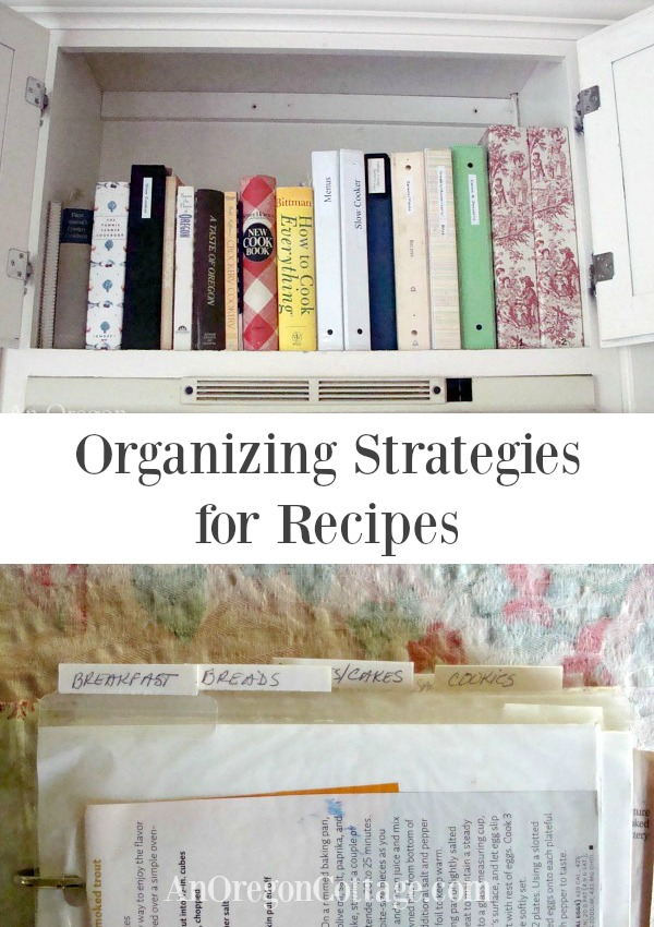 Organizing strategies for recipes