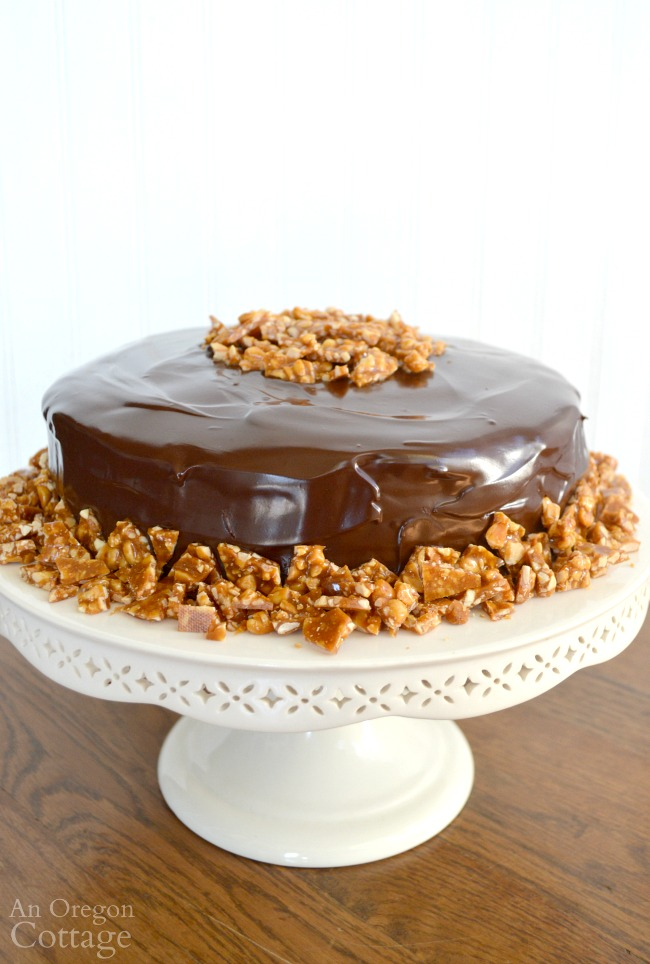 Peanut Butter-Chocolate Celebration Cake-perfect for any occasion a candy-bar-like confection is called for.