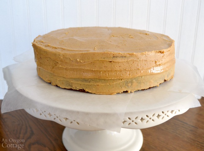 Peanut Butter-Chocolate Celebration Cake-peanut butter frosting laye