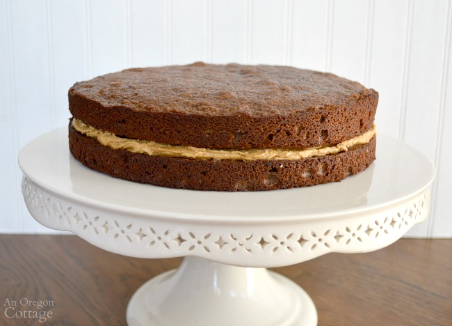 Peanut Butter-Chocolate Celebration Cake-peanut butter layer