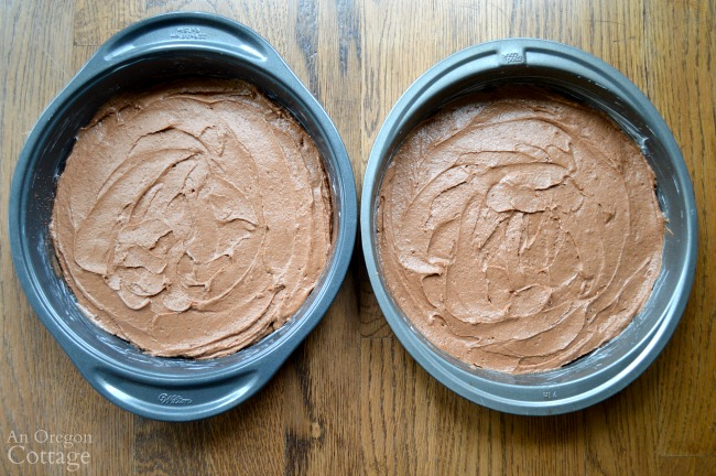 Peanut Butter-Chocolate celebration cake batter