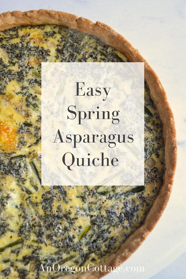 easy spring asparagus quiche