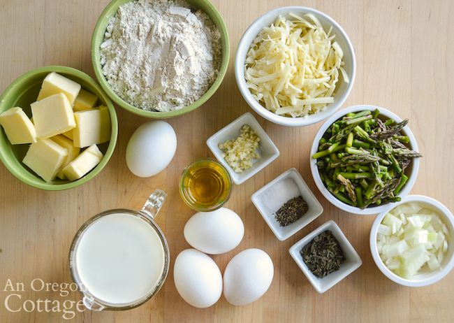 spring asparagus quiche ingredients