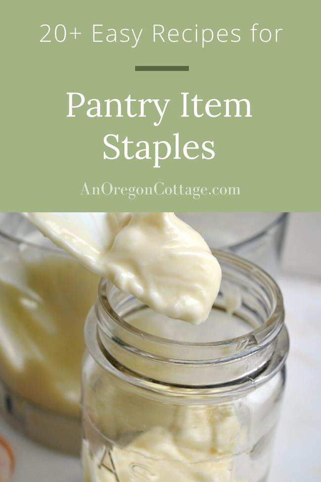 20 recipes for pantry item staples