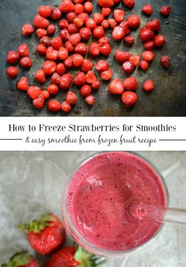 How to freeze strawberries-berry smoothies