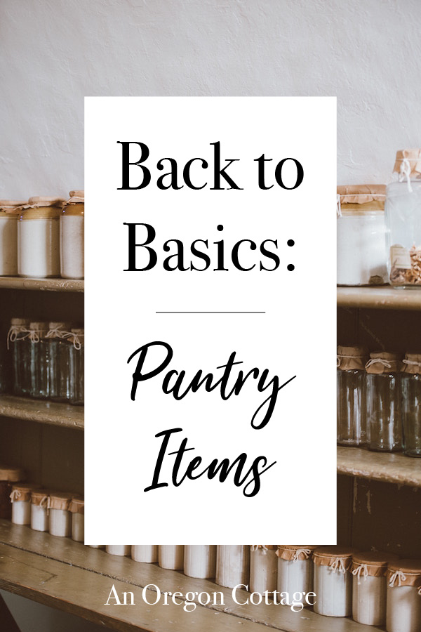 jars of pantry items on shelves