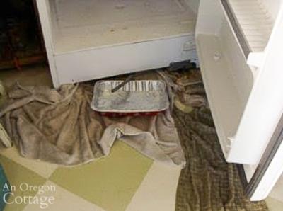 defrosting freezer using drain hose