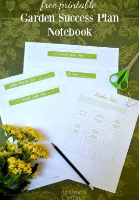 Organizing Garden Paperwork + Free Garden Success Plan Notebook