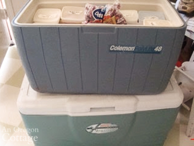 using coolers to hold food while defrosting