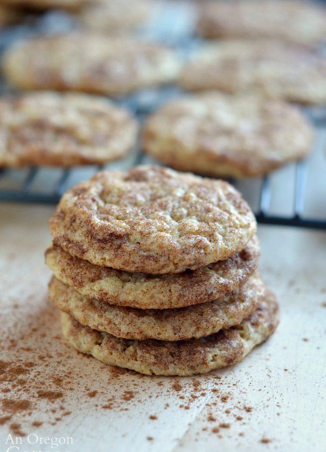 Cinnamon Sugar Multigrain Snickerdoodle Cookies