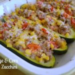Sausage and Corn Stuffed Zucchini - An Oregon Cottage