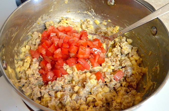 cooking filling for stuffed zucchini