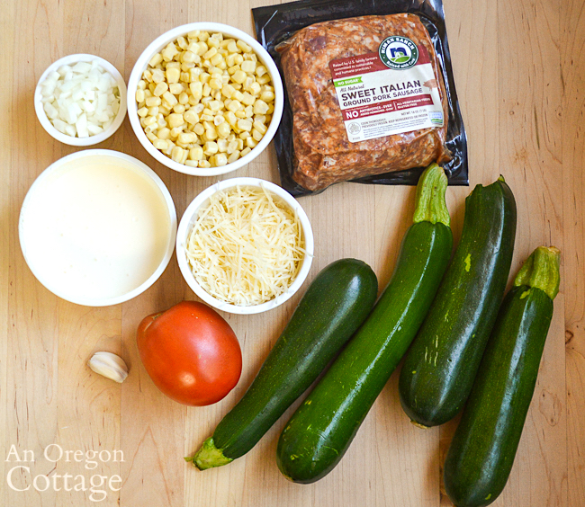 stuffed zucchini ingredients