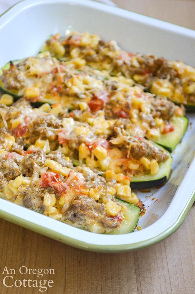 stuffed zucchini side