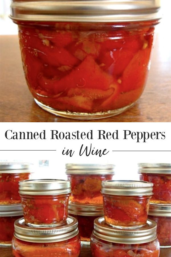 Canned Roasted Red Peppers in Wine are perfect for appetizers, salads, pizza toppings and more.