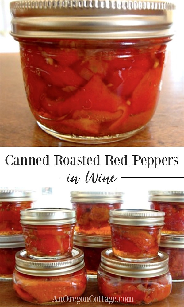Canned Roasted Red Peppers in Wine pin image