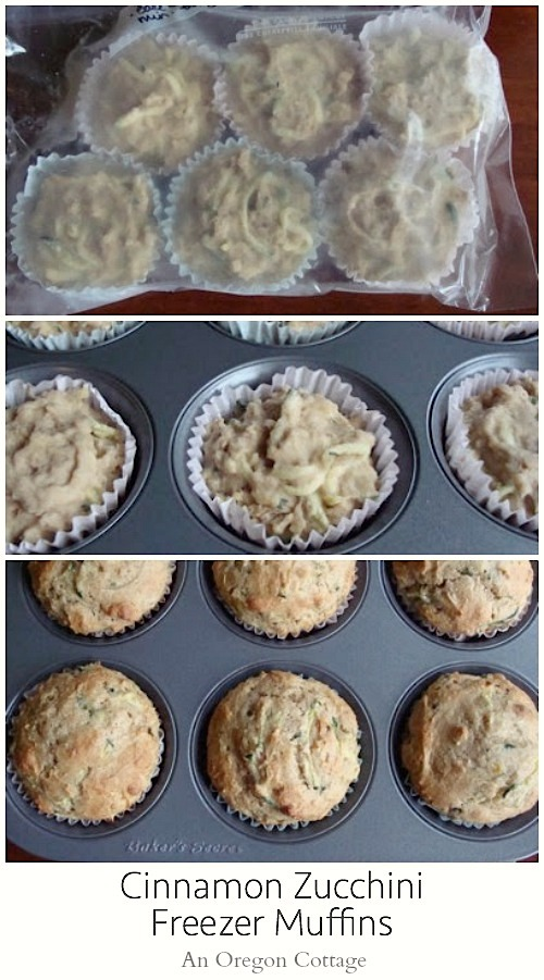 Cinnamon Zucchini Freezer Muffins - An Oregon Cottage