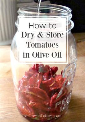 Drying Tomatoes-how to dry and store tomatoes in olive oil