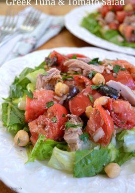 Greek Tuna And Tomato Salad