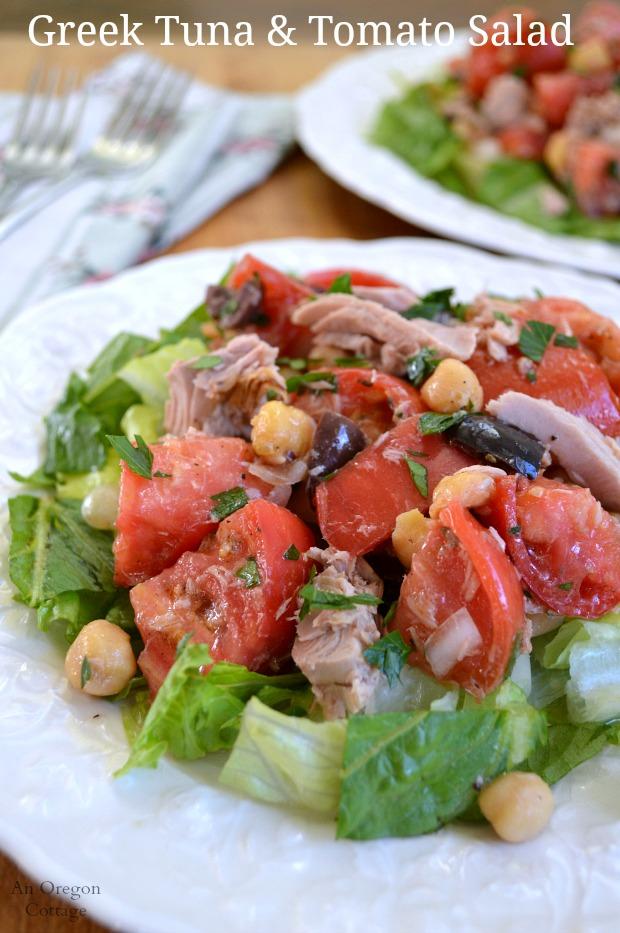 Greek Tuna and Tomato Salad - An Oregon Cottage