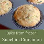 bake zucchini freezer muffins from frozen