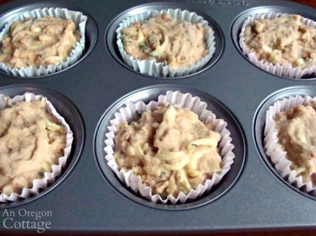 frozen zucchini muffins ready to bake
