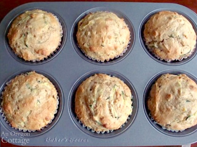 zucchini freezer muffins in pan above