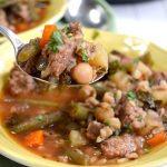 Slow Cooker Italian Sausage Vegetable Soup