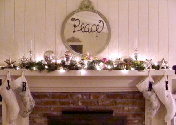 2010 Christmas Mantel after