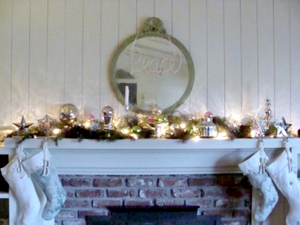 2010 Christmas mantel before