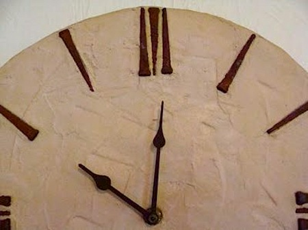 wall clock nail numbers