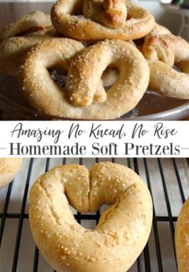 Easy No Knead, No Rise Soft Pretzels {Kid Friendly Too}