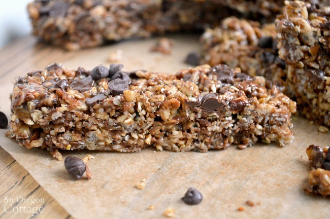 Peanut butter chocolate chewy granola bars