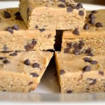Whole grain chocolate chip peanut butter blondies