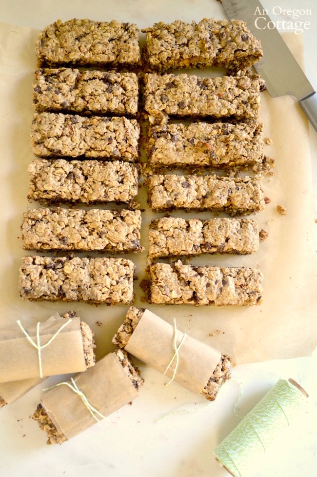 Wrapping Easy Baked Granola Bars