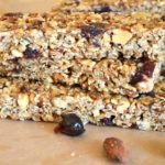 no-bake chewy granola bar-cranberry almond
