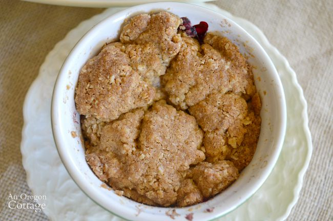 Berry Crisp with 'big crumb' topping