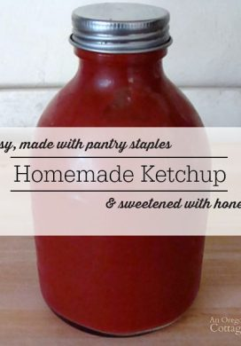 This super easy homemade ketchup recipe is made with pantry staples and sweetened with honey - our family loves it and hasn't bought ketchup in years!