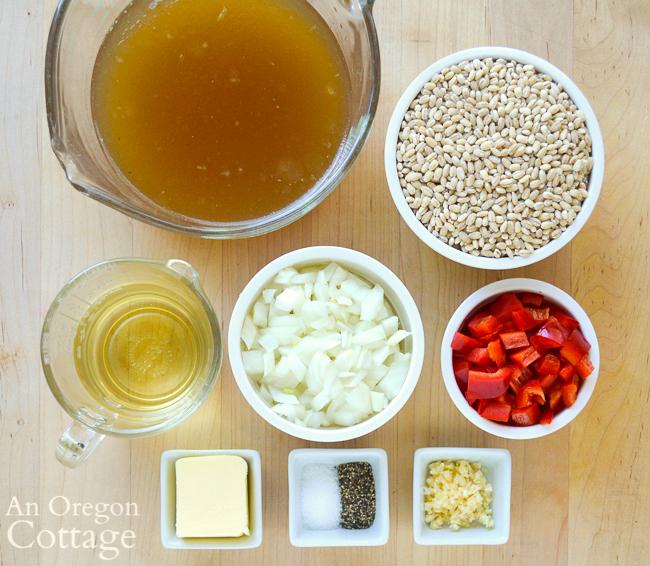 Vegetable Barley Pilaf ingredients