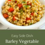 barley vegetable pilaf side dish
