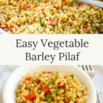 easy vegetable barley pilaf