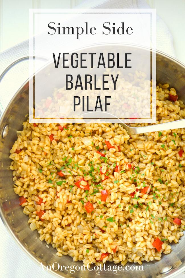 simple side barley pilaf