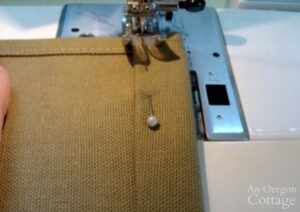 sewing casing for log carrier