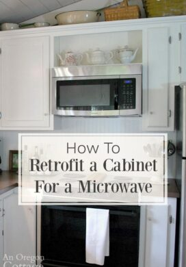 How to Retrofit a Cabinet for a Microwave pin image