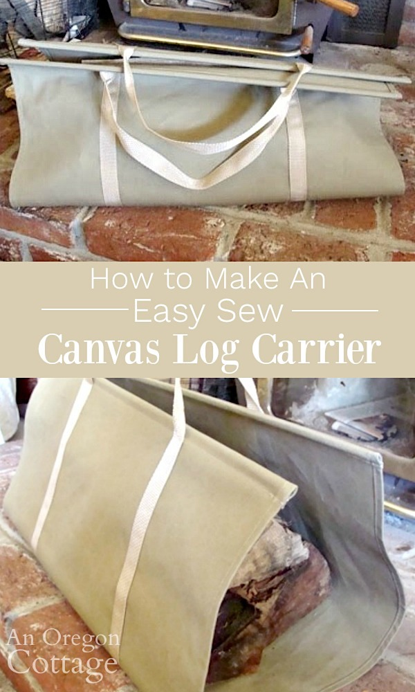 How to make a canvas log carrier pin