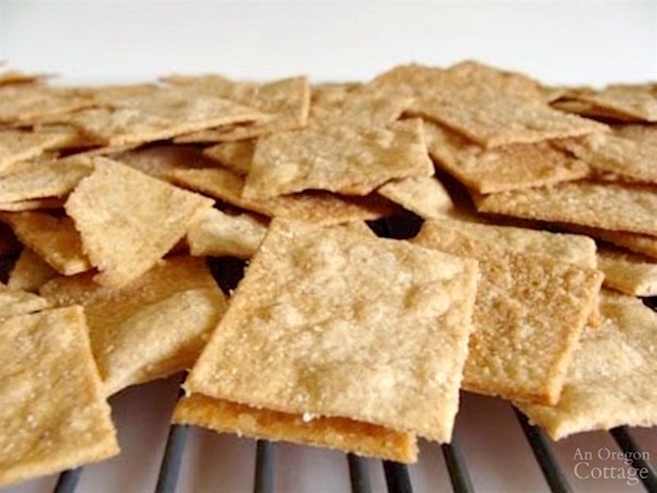 Sourdough Whole Wheat Crackers cooling