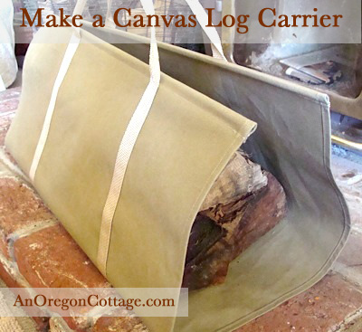 canvas-log-carrier