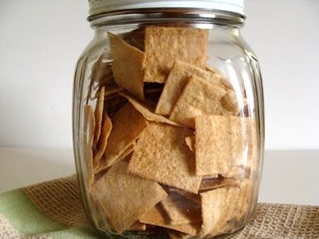 sourdough whole wheat crackers