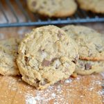 Soft And Chewy Whole Grain Peanut Butter Cookies with chocolate chunks